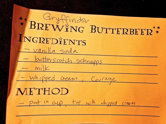 Gryffindor Recipe