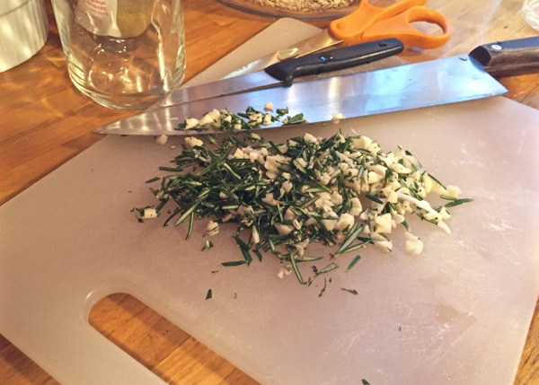 Chopped Rosemary and Garlic