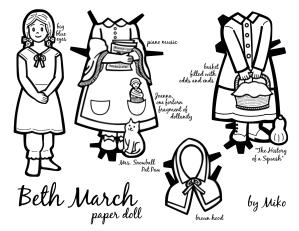 Beth Paper Doll